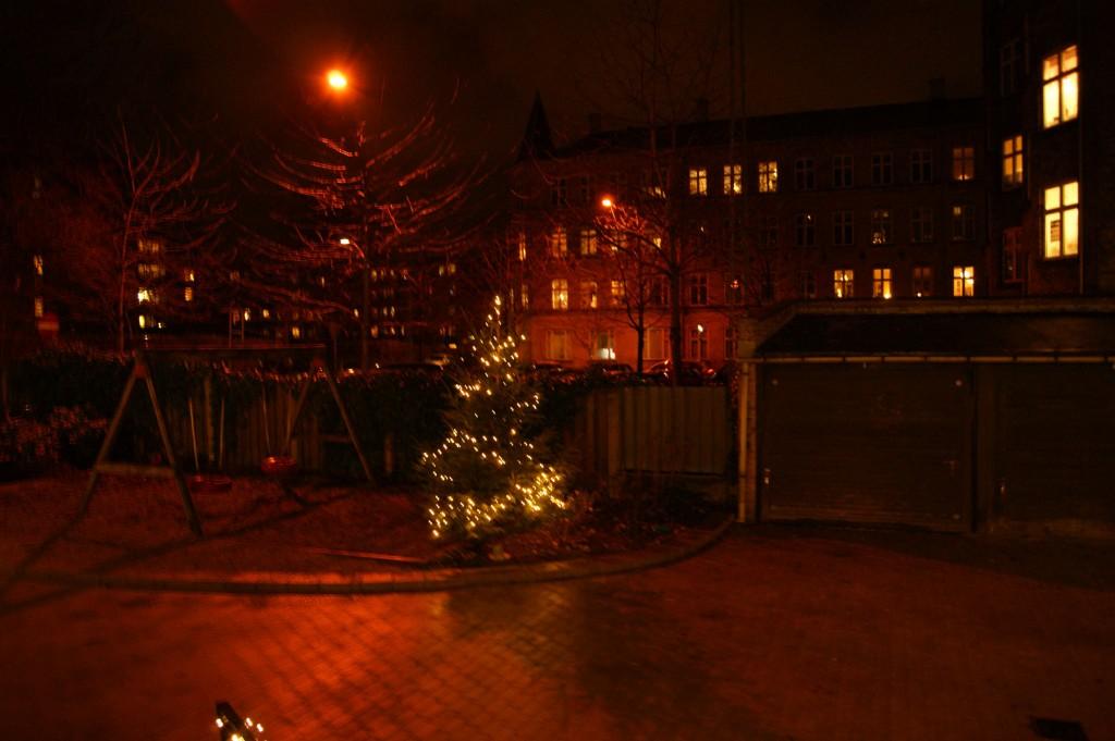 Juletraeet 2011 om aftenen